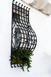 Window with decorative lattice Royalty Free Stock Photos