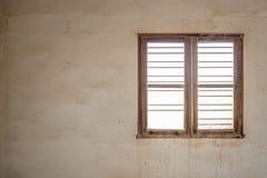 Window of a derelict interior Stock Photos