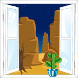 Window in desert Stock Photography