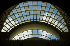 Window design. A design of glass windows in the Florida Convention center in Orlando, USA Stock Photo