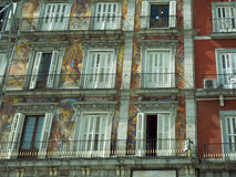 Window design architecture on Plaza Mayor Madrid Spain. Window design and architecture on Plaza Mayor Madrid Spain Royalty Free Stock Image