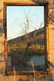 A window in the dessert Royalty Free Stock Images