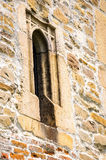 Window detail church Borzesti Romania Stock Photos