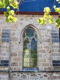 Historical 19th Century Church, Fremantle, Western Australia. Window detail of historical colonial era 19th century church, St John`s Anglican Church, Fremantle royalty free stock photography