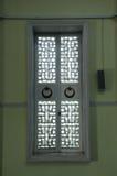 Window detail of Masjid Jamek Bandar Mersing Royalty Free Stock Images