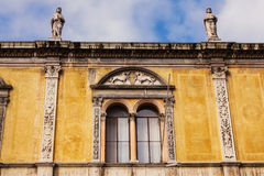 Window details of Loggia del Consiglio, Verona Royalty Free Stock Image