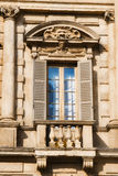 Window details of Palazzo Maffei, Verona Stock Image