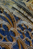 Window details St. Vitus Cathedral. Gothic Details on St Vitus Cathedral Outside Walls royalty free stock images