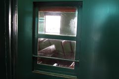 Window in Diesel Electric Engine Train No.51 Royalty Free Stock Image