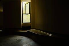 Window of dim corridor Stock Images