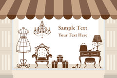 Window display royalty free illustration