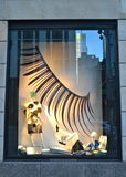 Window display at Bergdorf Goodman in NYC. Royalty Free Stock Photo