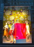 Window display at Bergdorf Goodman in NYC. Royalty Free Stock Photos