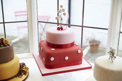 Window Display In Cake Decorating Shop Stock Image
