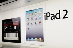 Window display of ipad Royalty Free Stock Photography