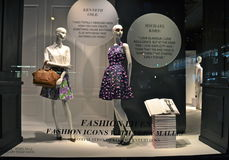 Window display at Saks Fifth Avenue in NYC Stock Photo