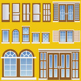 Window and door vector. In color royalty free illustration