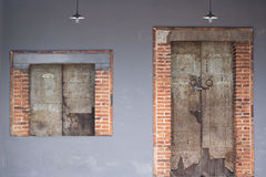 Window and dor. Old window and old door Royalty Free Stock Photos
