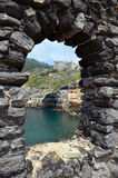 Window in Dorio castle Portovenere Royalty Free Stock Photography