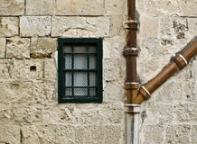 Window and Drains Royalty Free Stock Images