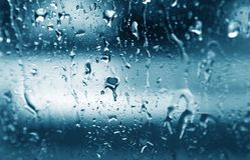 Window drops Stock Image
