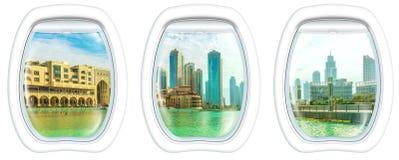Window on Dubai Stock Photography