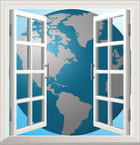 Window earth. Abstract background earth europe window world concept Royalty Free Stock Photos