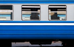 Window of electric train Royalty Free Stock Images