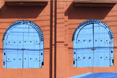 Window at Embu das Artes - São Paulo - Brasil Stock Images