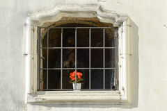 Window of Euseo church at Serravalle Sesia on Italy Royalty Free Stock Photography