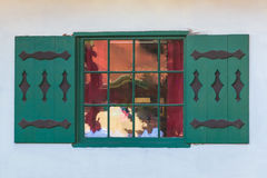 Window on facade of house Royalty Free Stock Image
