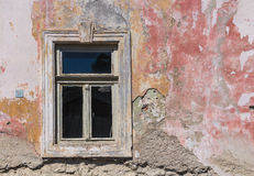 Window and a facade of an old house Royalty Free Stock Photography