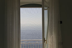 Window facing the sea Stock Image