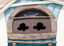 Window of fairy tale house in children's park Royalty Free Stock Photo