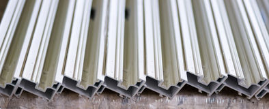 Window fiberglass profiles Stock Photos