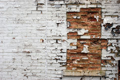 Window Filled In with Bricks Royalty Free Stock Images