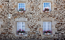 Window with Flower Decoration Stock Photos