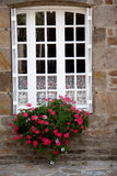 Window with Flower Decoration Royalty Free Stock Photography