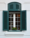 Window and flowerbox Stock Photography