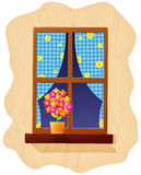 Window and flowers Stock Images