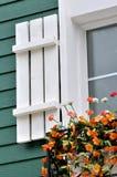 Window and flowers Stock Photo