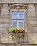 Window with flowers, Bamberg, Germany Stock Image