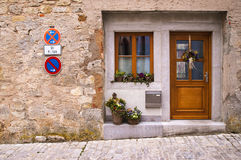 Window and flowers in Rothenburg ob der Tauber. Rothenburg ob der Tauber, Bavaria, Germany Royalty Free Stock Images