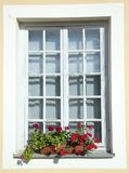 Window With Flowers Royalty Free Stock Photos