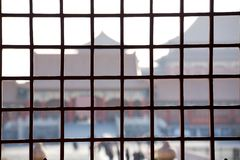 Window and Forbidden City Stock Photography