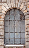 Window in the form of an arch sculpture Royalty Free Stock Photography
