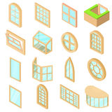 Window forms icons set, isometric style. Window forms icons set. Isometric illustration of 16 window forms icons set vector icons for web royalty free illustration