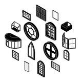 Window forms icons set, simple style. Window forms icons set. Simple illustration of 16 window forms icons set vector icons for web stock illustration