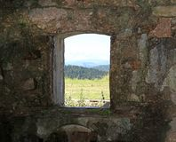 WINDOW of Fort Sommo First World War Stock Photo