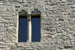 Window in fortification wall of castle Schlossberg Royalty Free Stock Photos